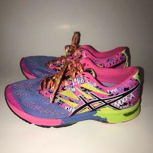 Colorful ASICS running sneakers
